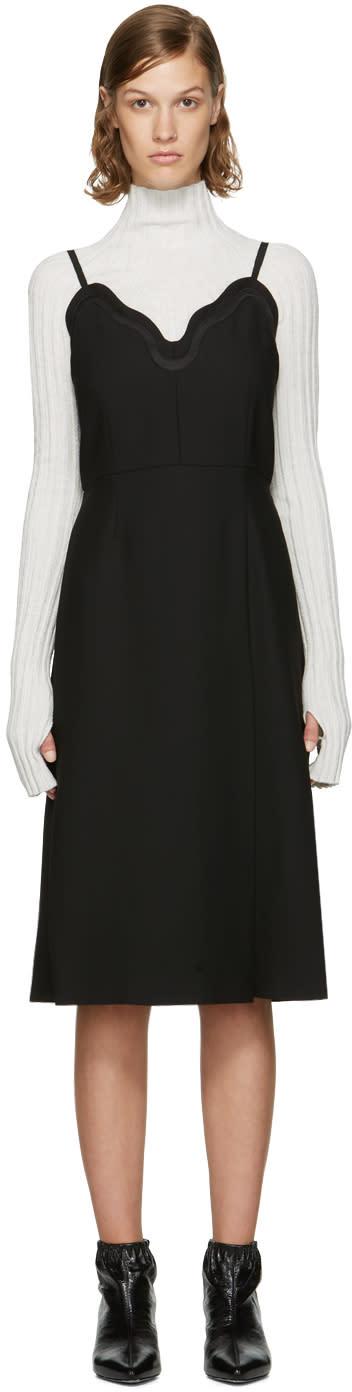 Image of Carven Black Scalloped Dress