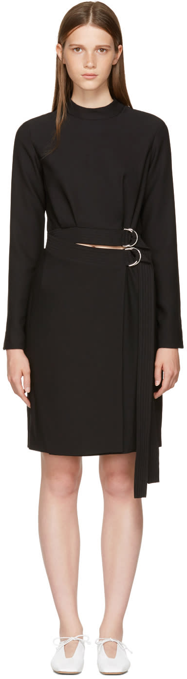 Image of Carven Black Double Belted Dress