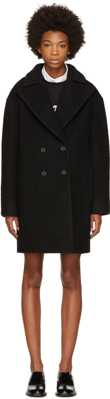 Image of Carven Black Boule Coat