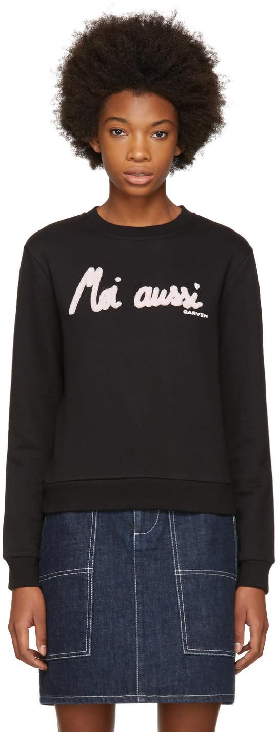 Image of Carven Black moi Aussi Sweatshirt