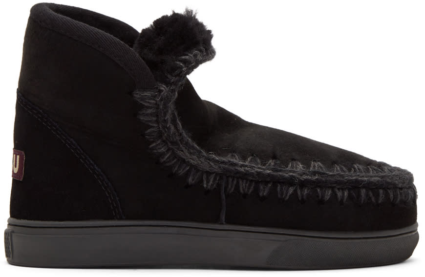 Image of Mou Black Mini Eskimo Sneaker Boots