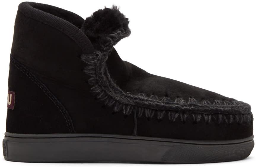 Image of Mou Black Mini Eskimo Sneaker Boots
