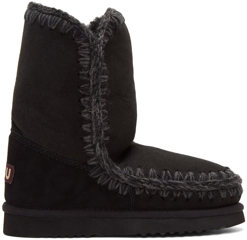 Image of Mou Black Eskimo 24 Boots