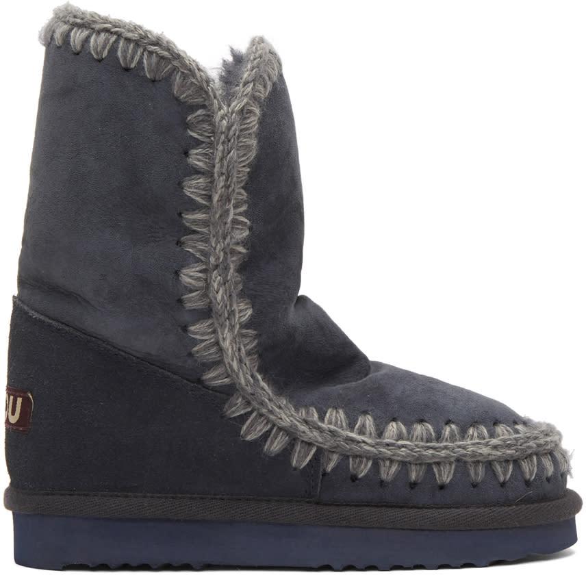 Image of Mou Navy Eskimo 24 Boots