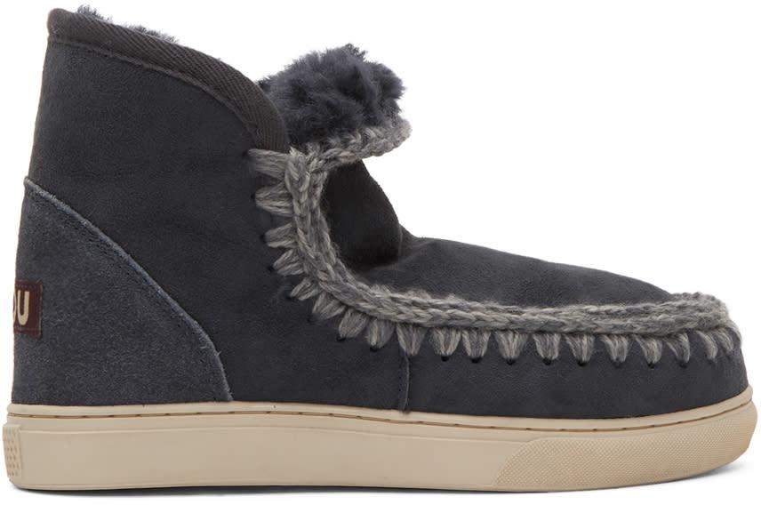 Image of Mou Navy Mini Eskimo Sneaker Boots