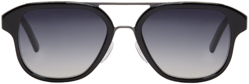 Image of Cutler And Gross Black 1228 Aviator Sunglasses