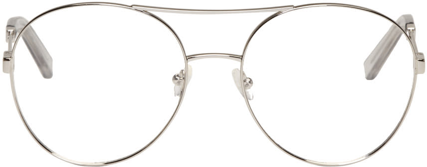 Chloe Silver Aviator Glasses