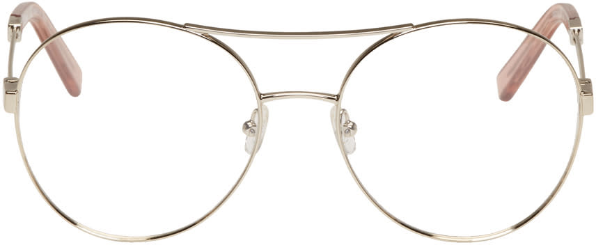 Chloe Gold Jacky Aviator Glasses