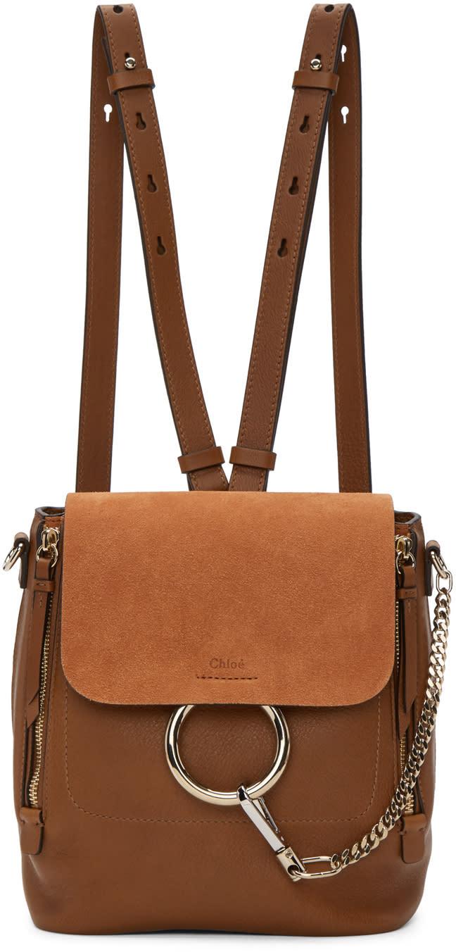 Chloe Tan Small Faye Backpack