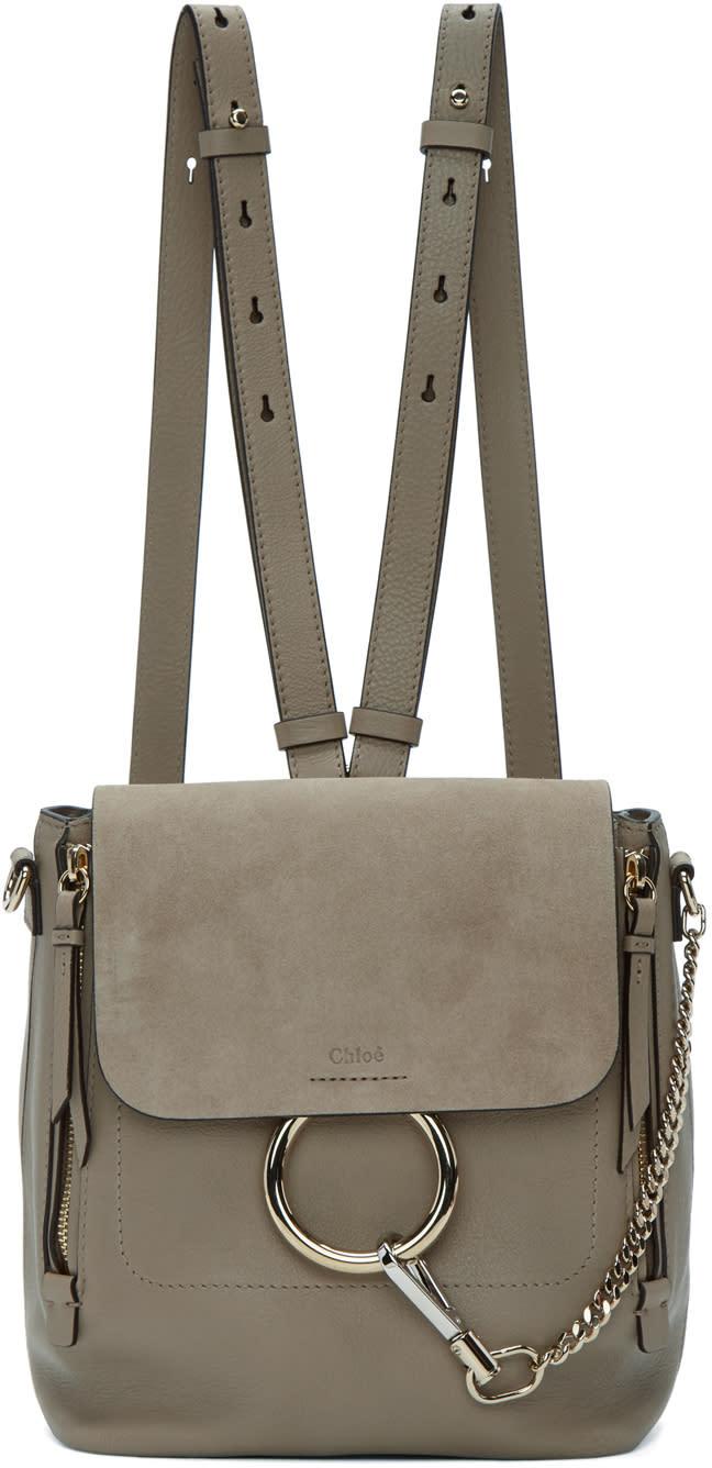 Chloe Grey Small Faye Backpack