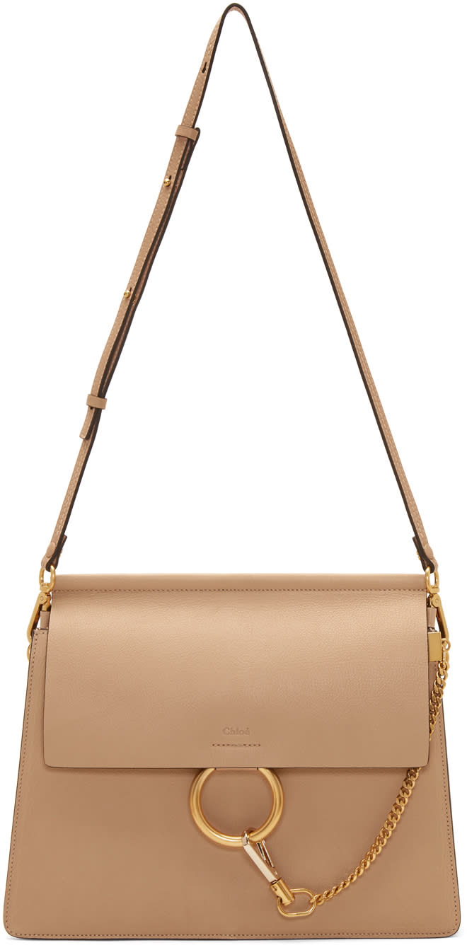 Image of Chloé Beige Medium Faye Bag