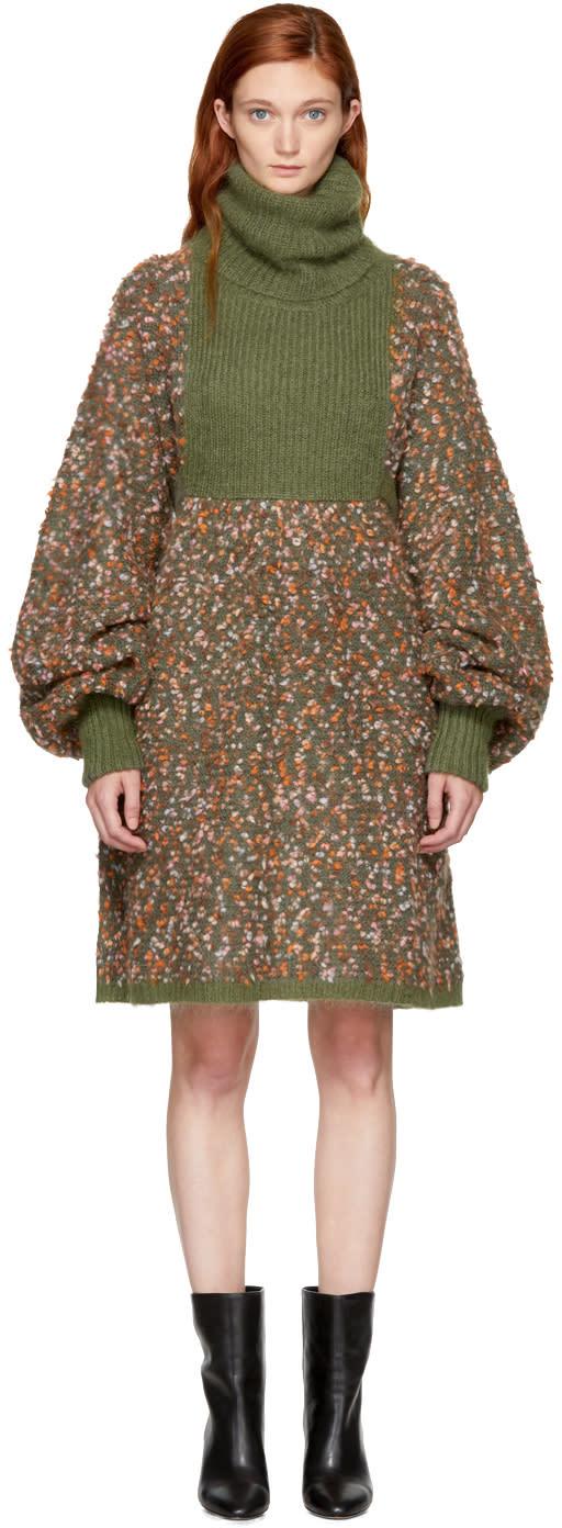 Chlo� Multicolor Chunky Turtleneck Dress