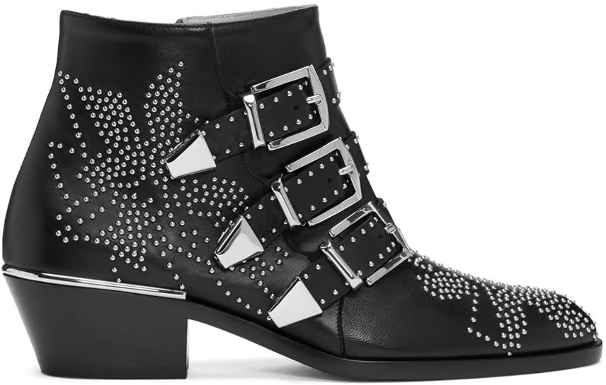 Chloe Black and Silver Susanna Boots