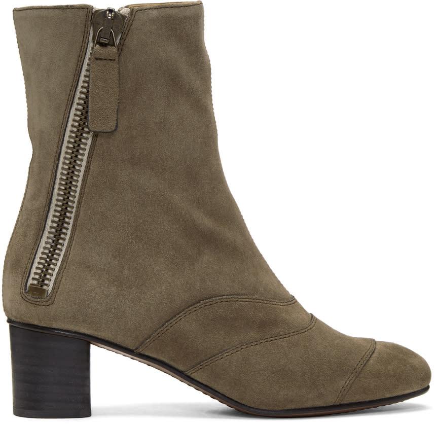 Chloe Grey Suede Lexie Boots
