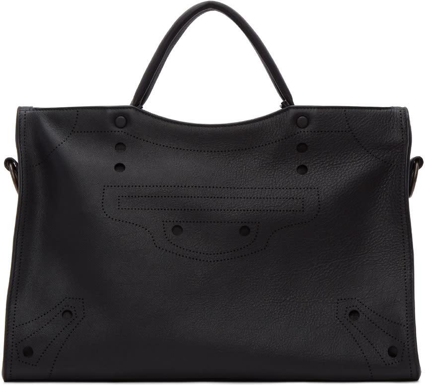 Balenciaga Black Blackout City Aj Bag