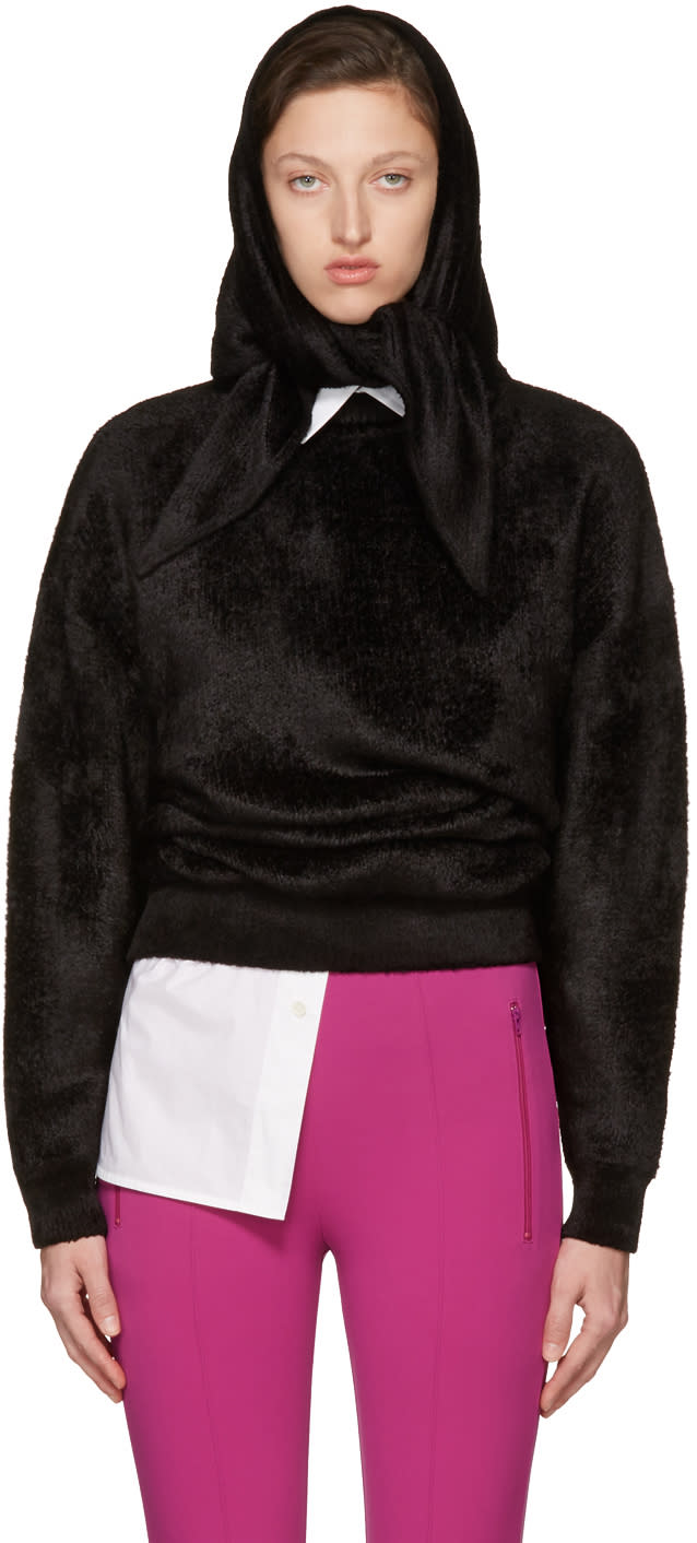 Balenciaga Black Headscarf Crewneck Sweater