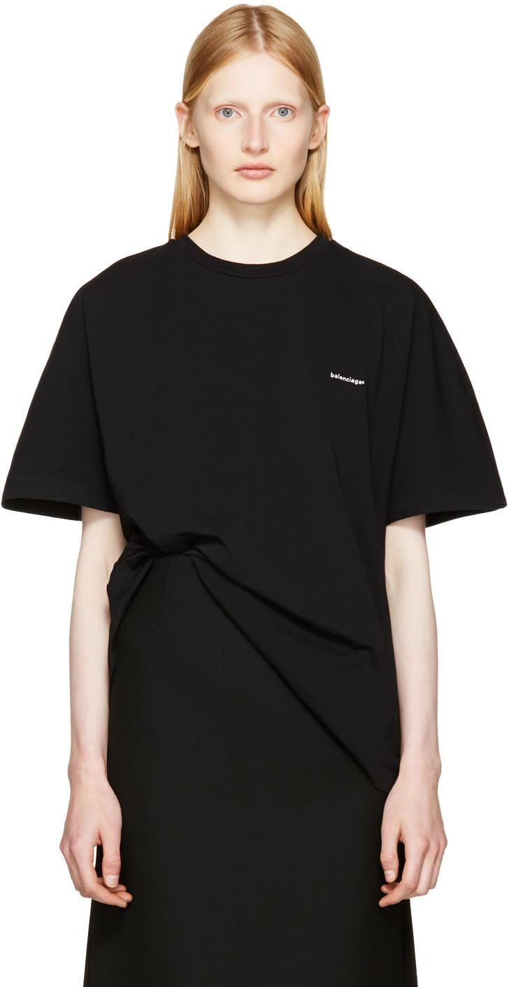 Image of Balenciaga Black Cocoon T-shirt