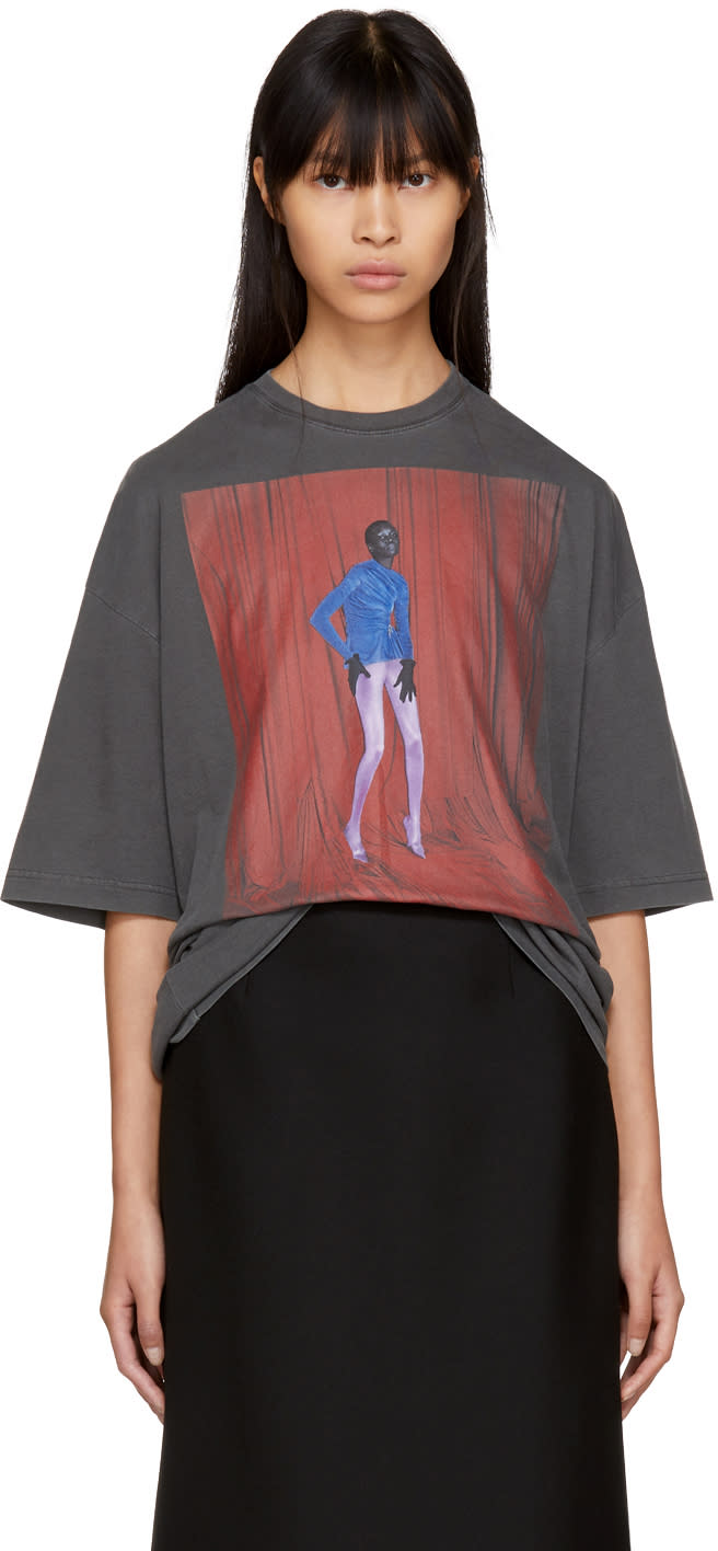 Image of Balenciaga Black Alek Model T-shirt