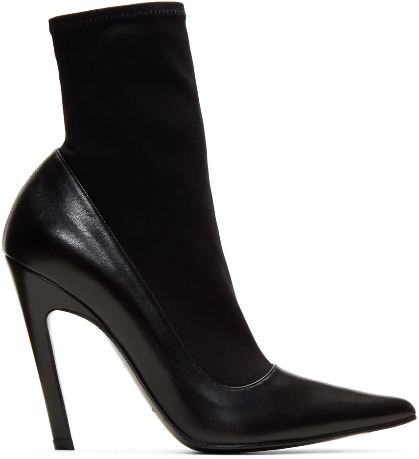Balenciaga Black Sock Heeled Boots