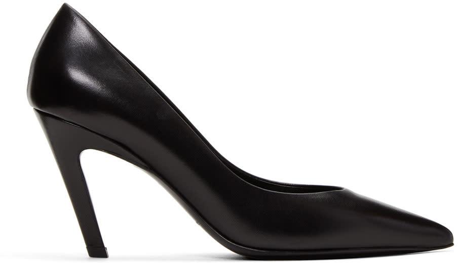 Balenciaga Black slash Heel Heels