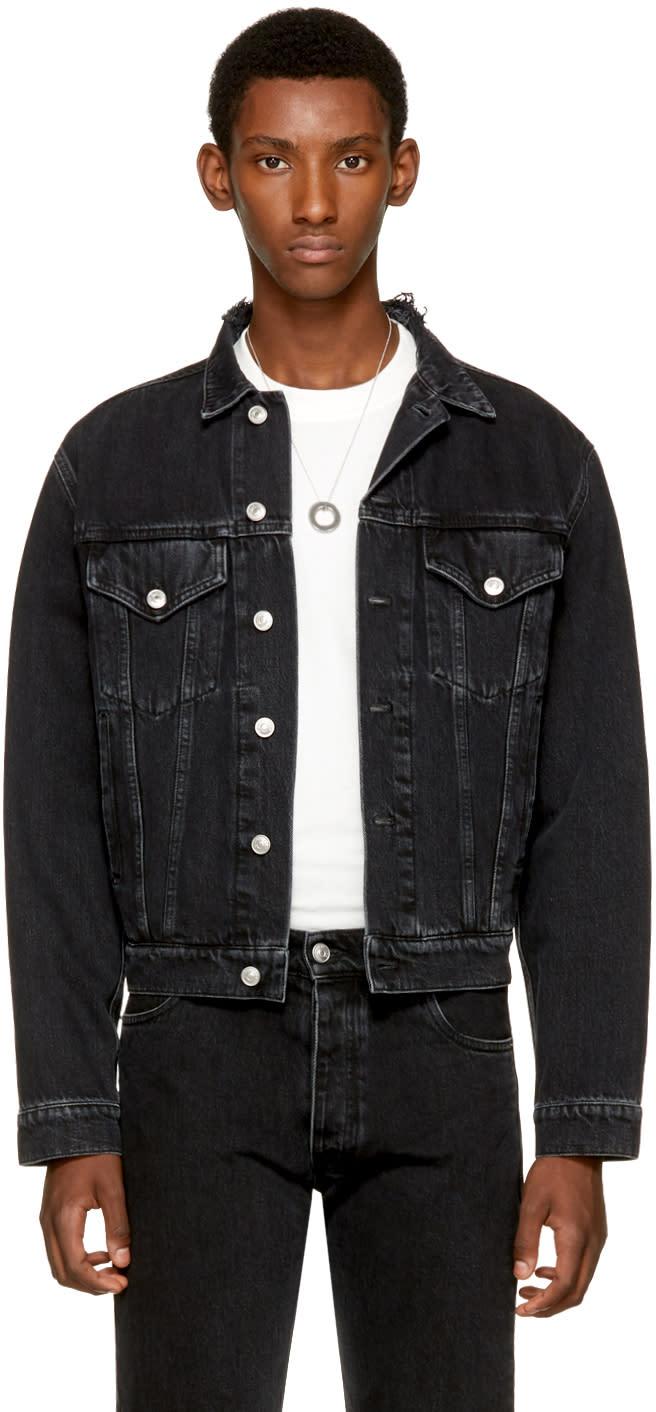Balenciaga ブラック クラシック デニム ジャケット