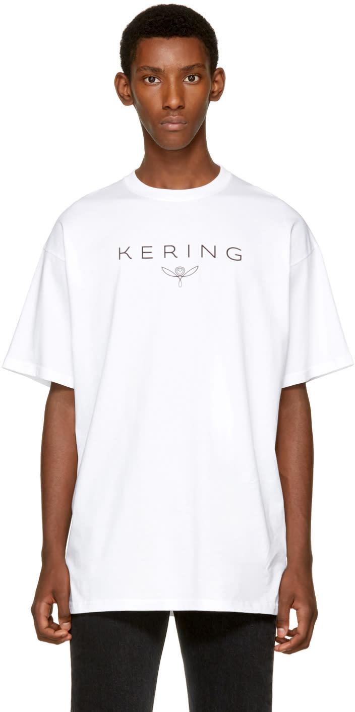 Balenciaga ホワイト Kering T シャツ