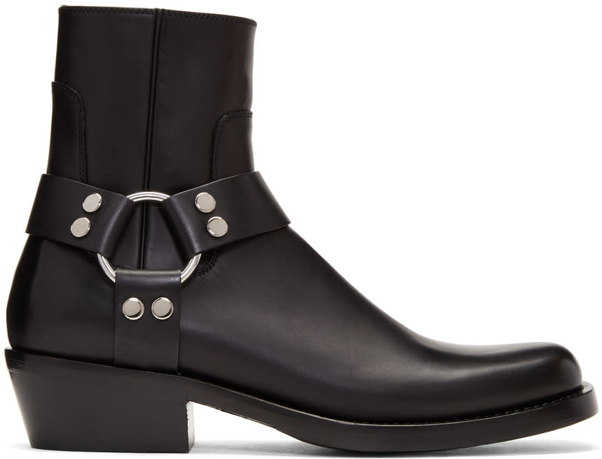 2c1e3b118 Balenciaga Black Harness Buckle Boots