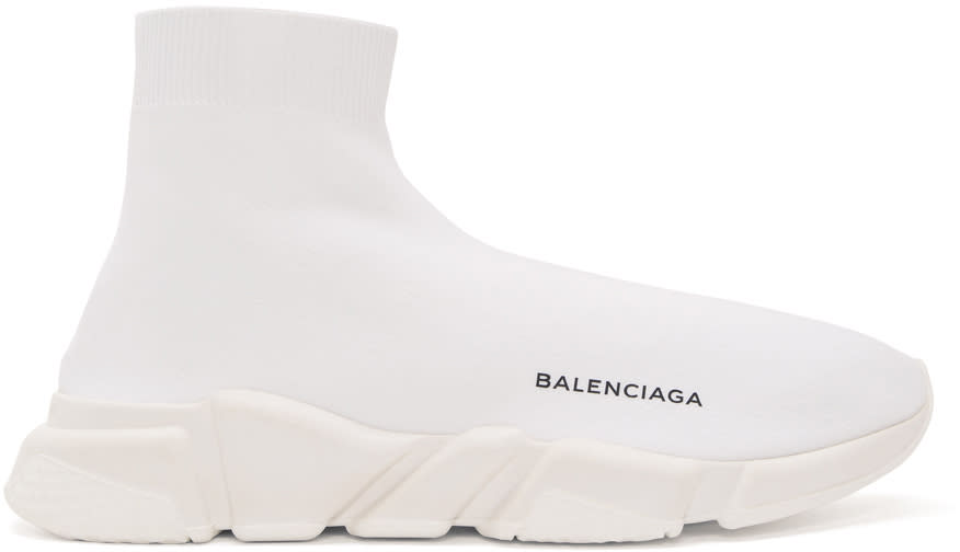 Balenciaga White Sock High-top Sneakers