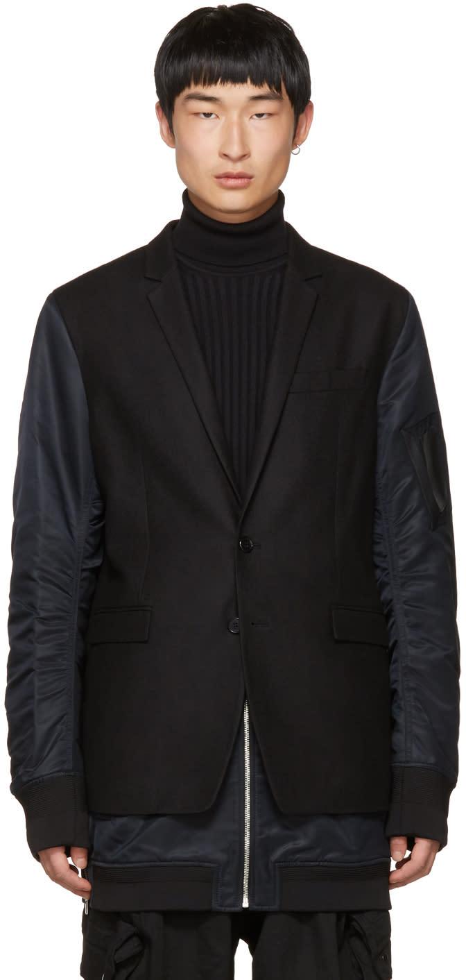 Image of Juun.j Black Blazer Coat