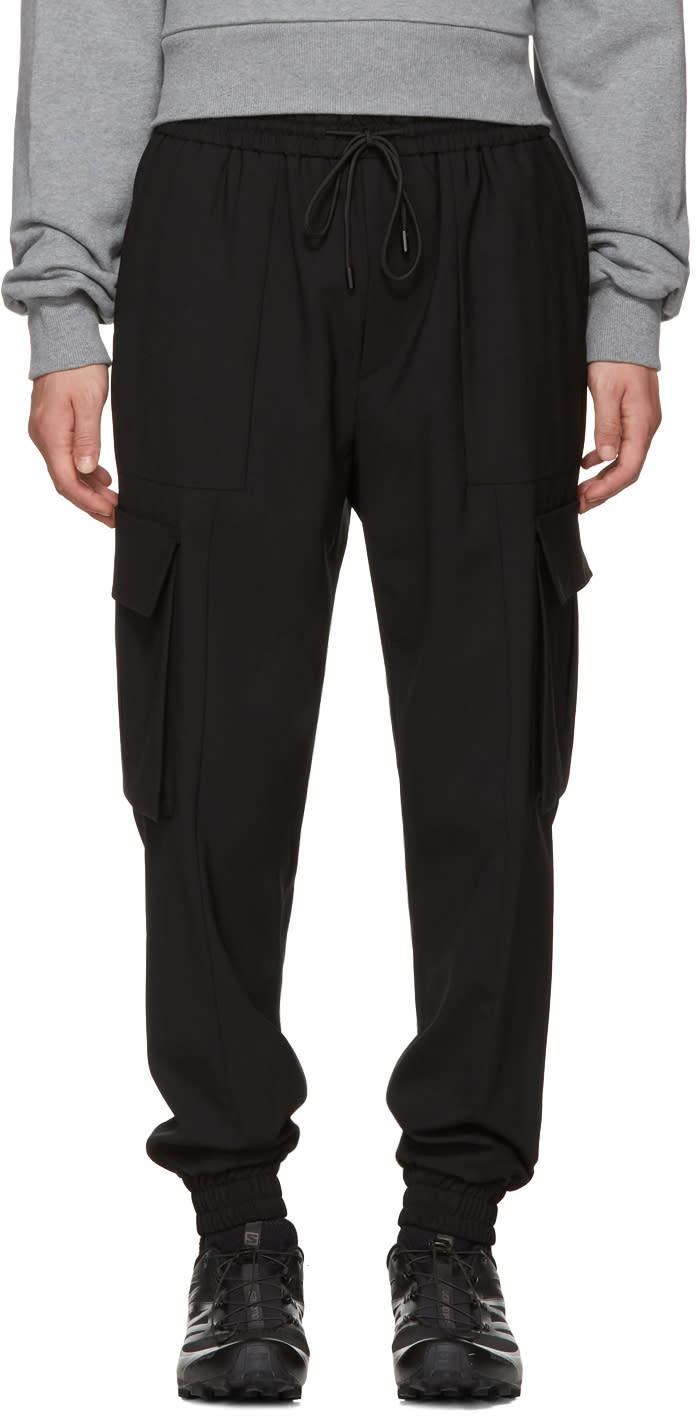 Image of Juun.j Black Drawstring Cargo Pants
