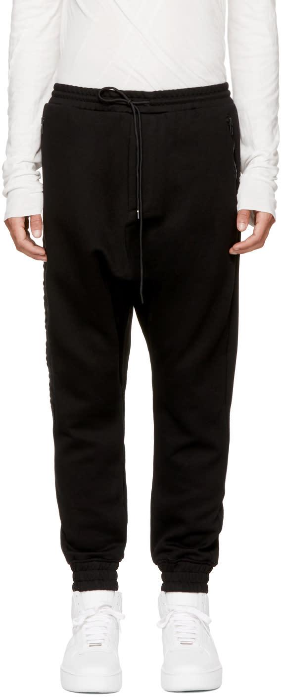 Image of Juun.j Black archive Drop Lounge Pants