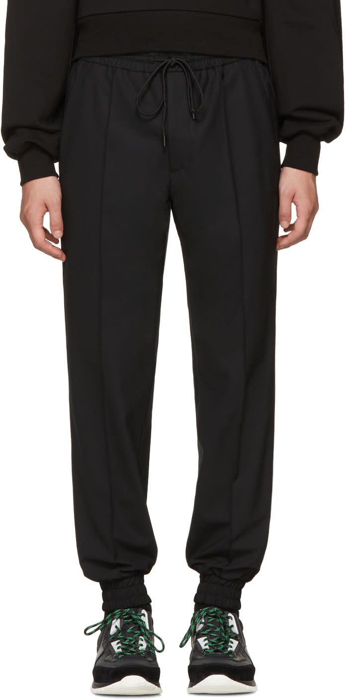 Image of Juun.j Black Drawstring Trousers
