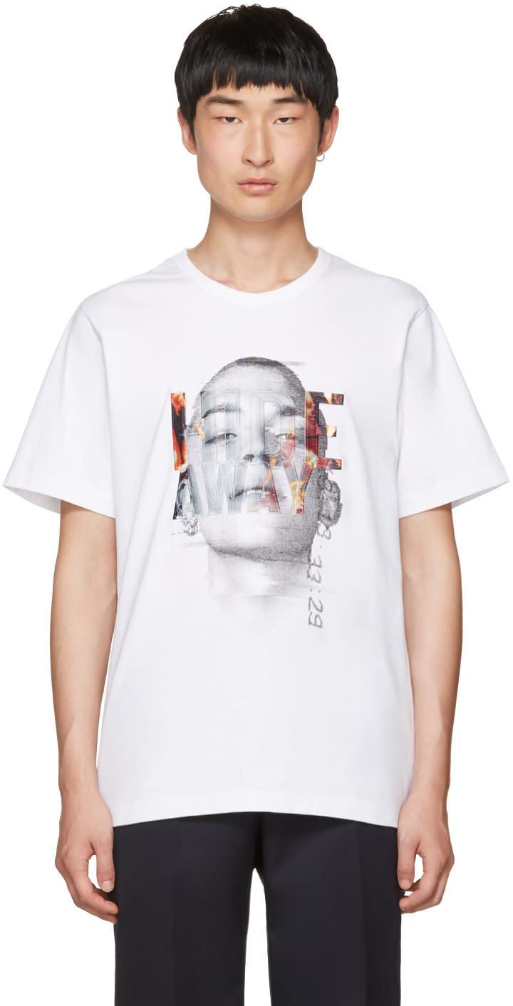 Juun.j ホワイト Hide Away T シャツ