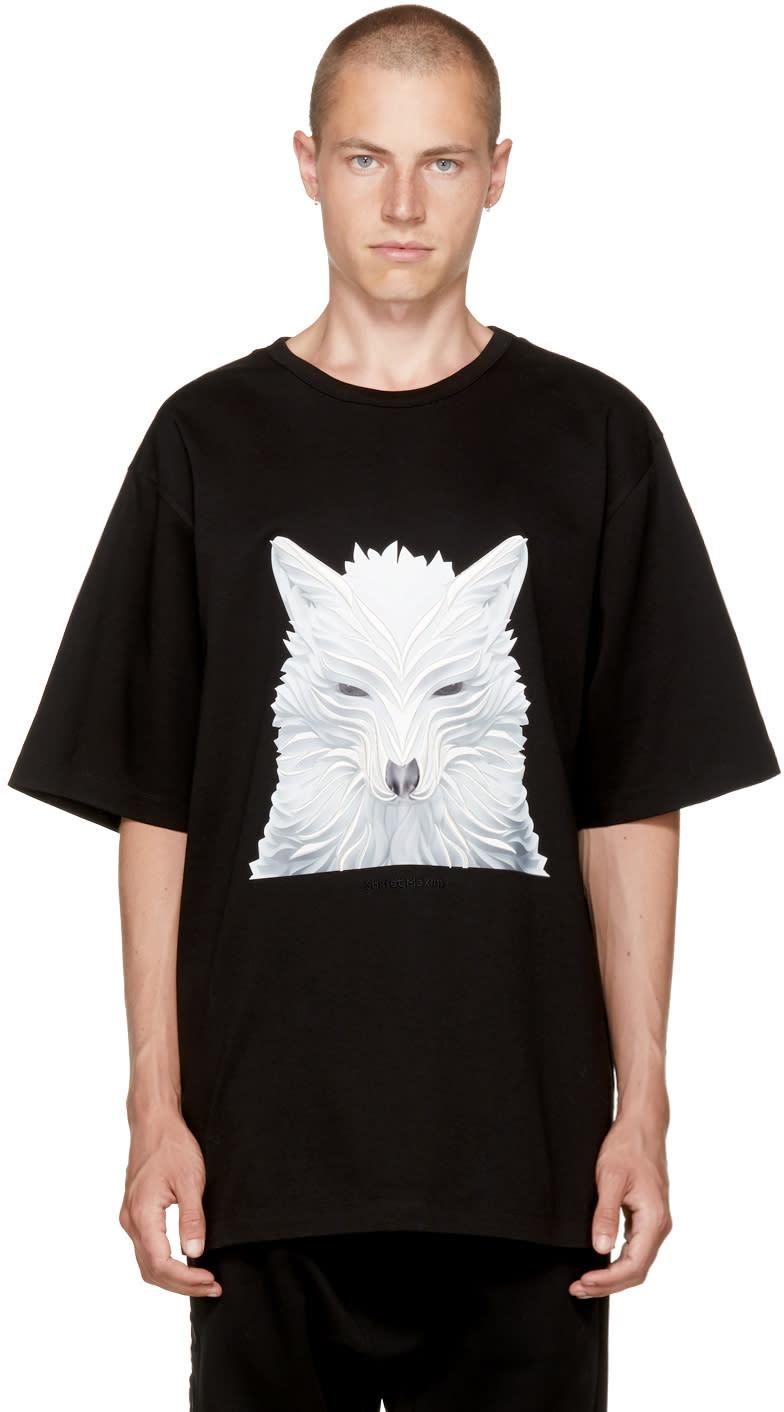 Image of Juun.j Black Fox T-shirt