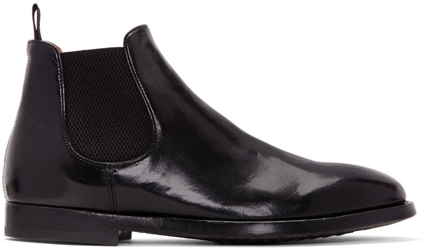 Officine Creative Black Herve Chelsea Boots