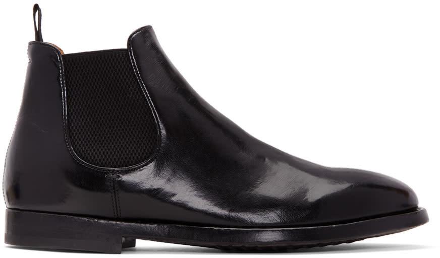 Image of Officine Creative Black Herve Chelsea Boots