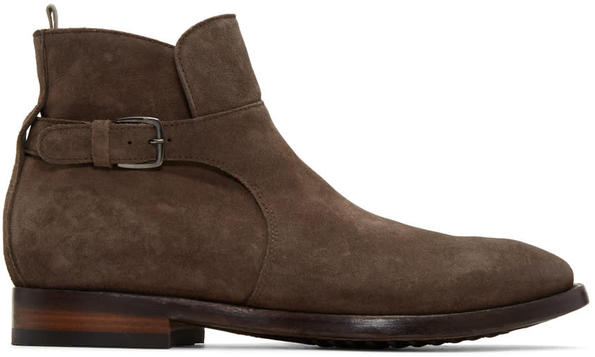Image of Officine Creative Brown Princeton 60 Buckle Boots