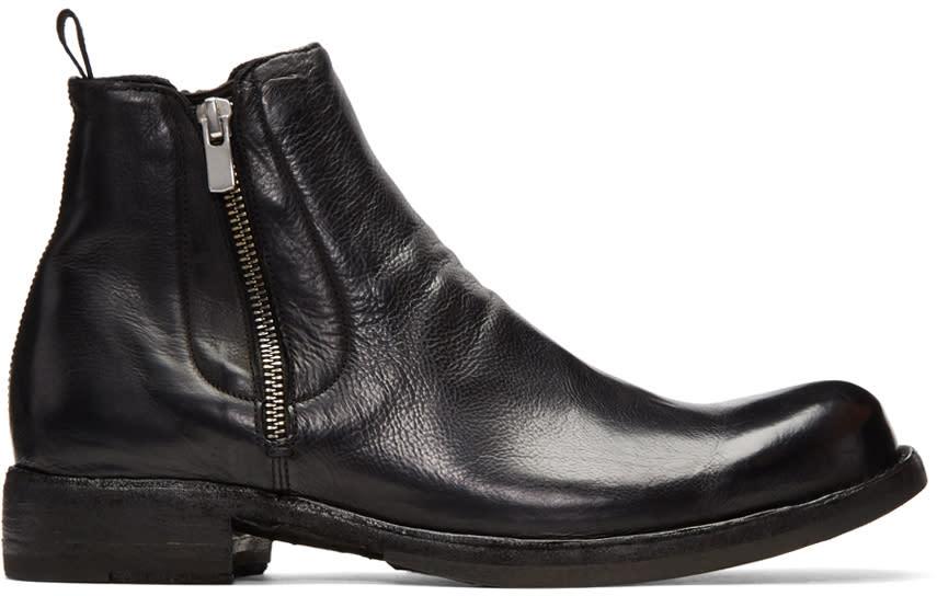 Image of Officine Creative Black Ikon 39 Zip Boots