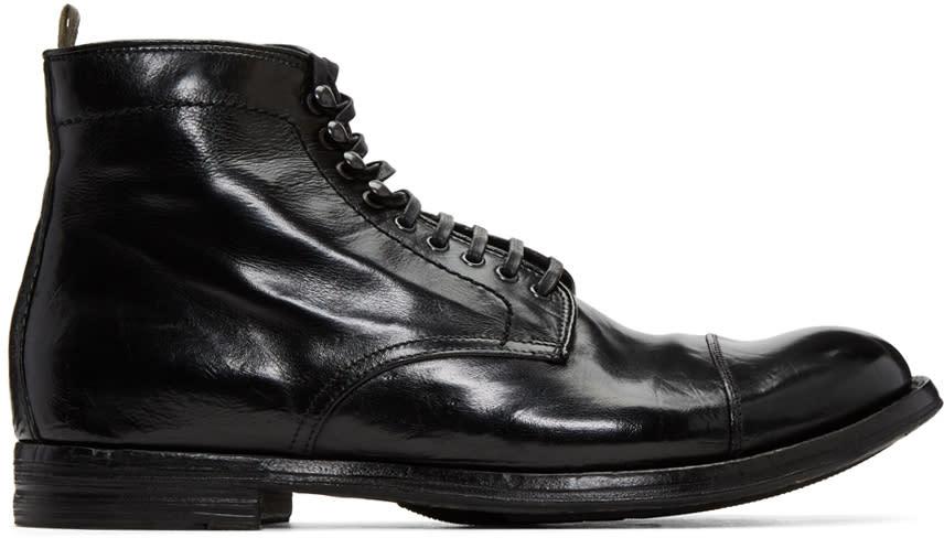 Image of Officine Creative Black Anatonia 16 Boots