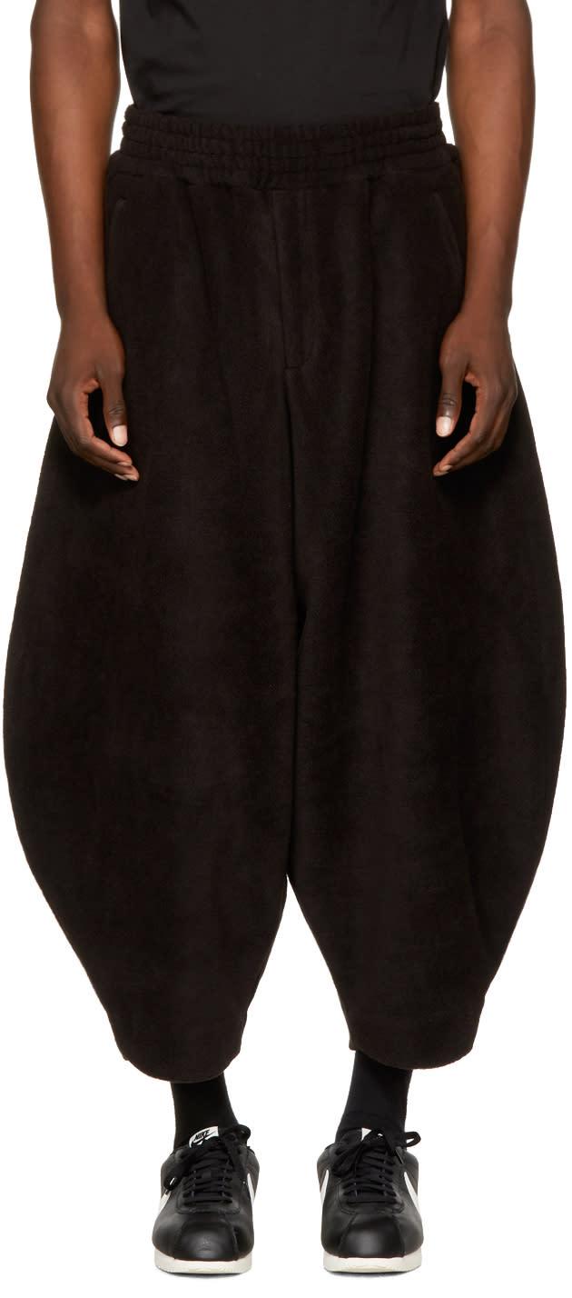 Image of Comme Des Garçons Homme Plus Black Fleece Lounge Pants