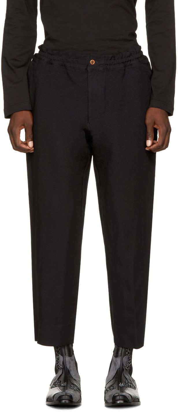 Image of Comme Des Garçons Homme Plus Black Elastic Waist Trousers