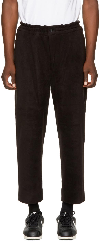 Image of Comme Des Garçons Homme Plus Black Fleece Trousers