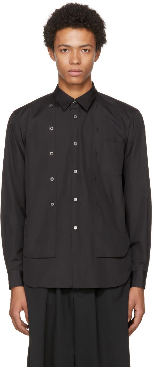 Image of Comme Des Garçons Homme Plus Black Double Shirt