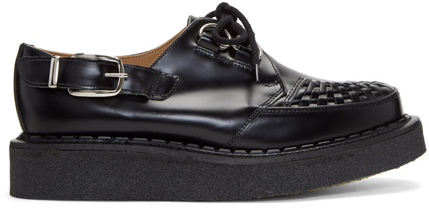 Image of Comme Des Garçons Homme Plus Black George Cox Edition Buckle Gibson Creepers