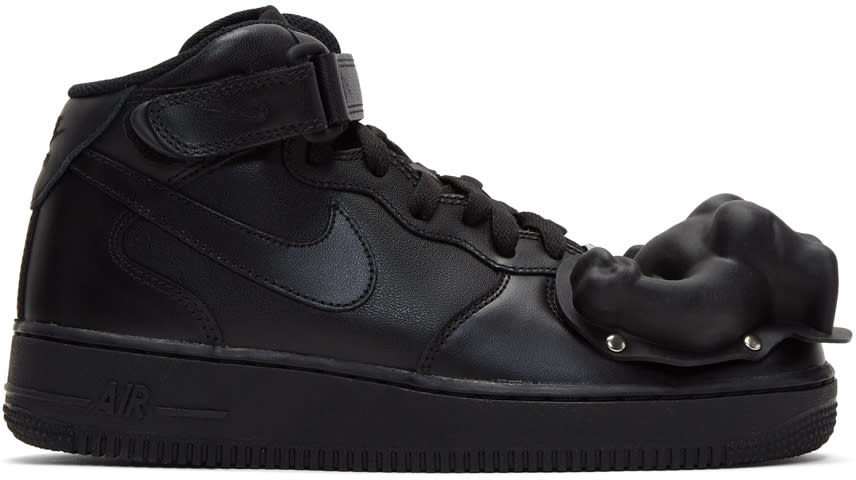 Comme Des Garcons Homme Plus Black Nike Edition Air Force 1 Mid 07 Sneakers