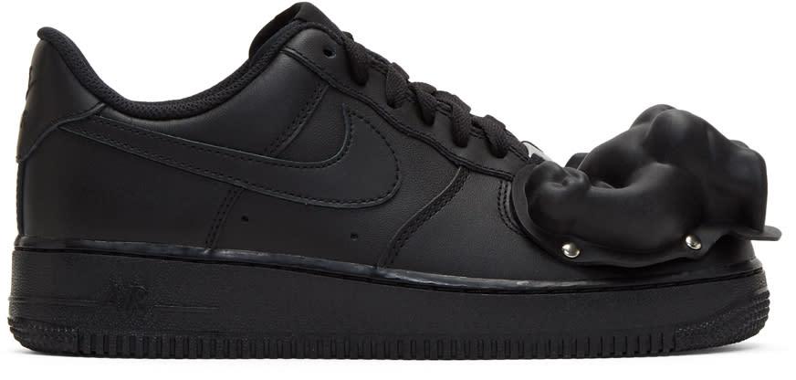Comme Des Garcons Homme Plus Black Nike Edition Air Force 1 07 Sneakers