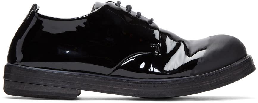 Marsell Black Patent Zucca Zeppa Derbys