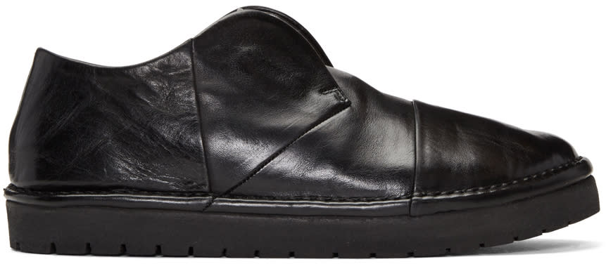 Marsell Black Leather Loafers