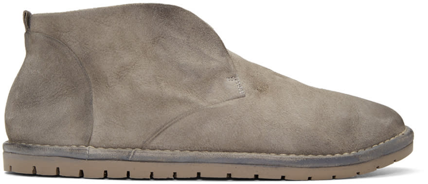 Marsell Grey Suede Loafers