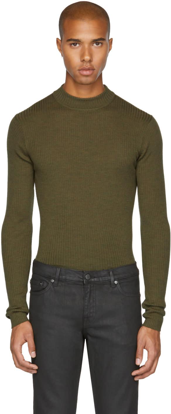 Image of Blk Dnm Green Skinny Rib 84 Sweater